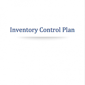 Marijuana Inventory Control Plan Template