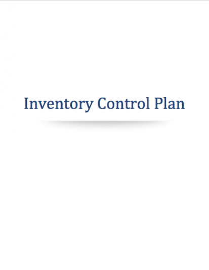 Cannabis Inventory Control Plan