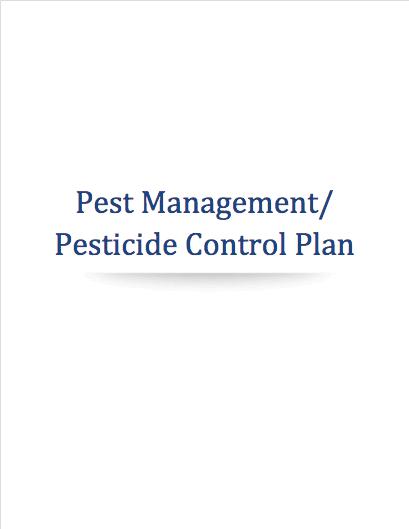marijuana pesticide management control plan