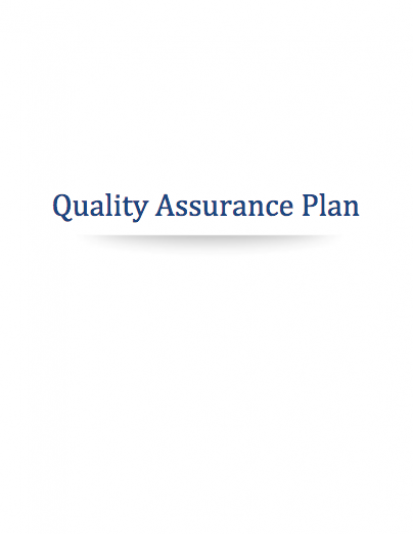 Cannabis Quality Assurance Plan