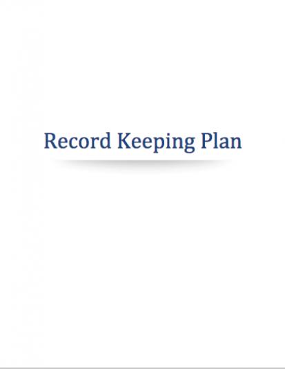 Cannabis Record Keeping Plan
