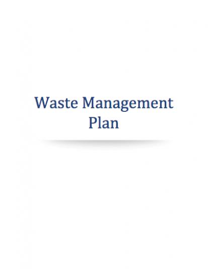 Cannabis Waste Management Plan