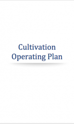 Cannabis Cultivation Operating Plan