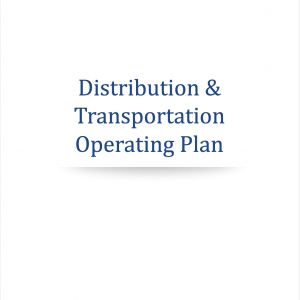 distribution operating plan