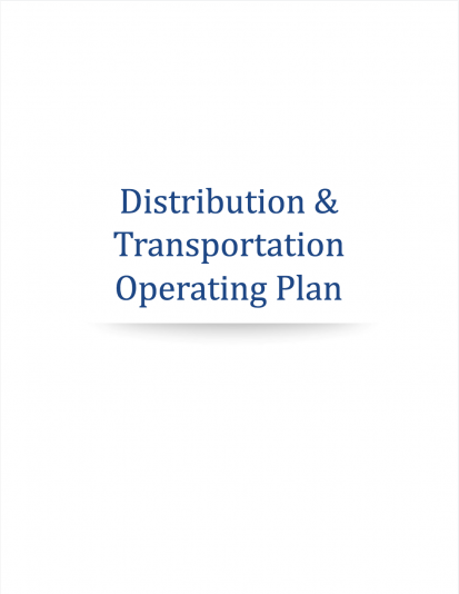 Cannabis Distribution Transportation Plan